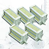 5-PC 50W Regulable R7s J118 Bombilla LED - Tipo J Bombilla LED de Doble Extremo R7s Bombilla para Reflector 118MM 500W Bombilla halógena de reemplazo Blanco cálido 3000K