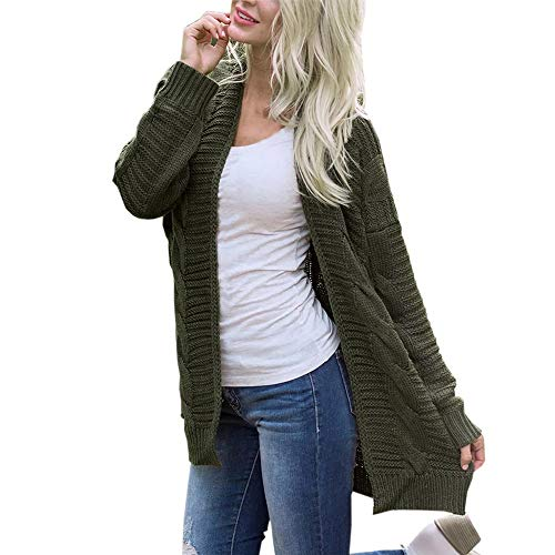 Xinantime Vrouwen Winter Truien, Dames Casual Open Front Knitwear Warm Lange Mouw Vest jas S-XXXL