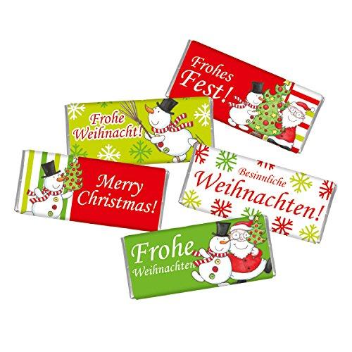 5 mal Mini Schokolade WEIHNACHTEN STEINBECK Vollmilch Schokolade Tafel Frohe Weihnachten 5er Set Geschenk Schneemann Weihnachtsmann Schlitten Jahreswechsel süß Mitgebsel Adventskalender Befüllung
