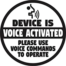 StickerTalk Device Is Voice Activated Vinyl Ticker, 3 inches by 3 inches