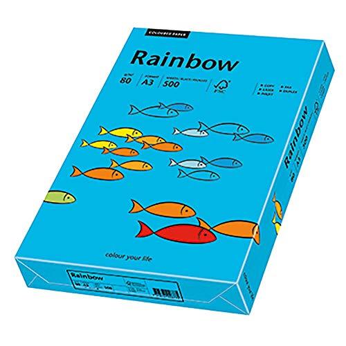 Papyrus 88042742 Druckerpapier Rainbow 80 g/m², A3 500 Blatt blau