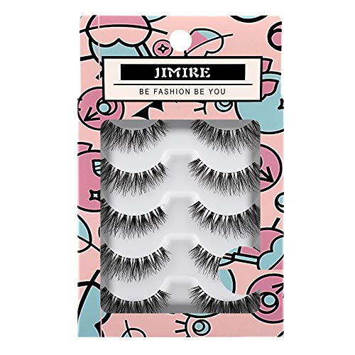 JIMIRE Fake Eyelashes Natural Lashes False Eyelashes Multip