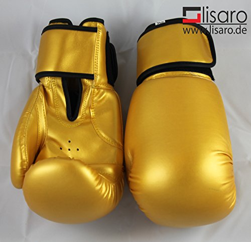 Lisaro Boxhandschuhe aus Kunstleder Farbe: Gold 10 oz (Gold)
