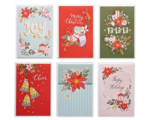 American Greetings Christmas Card Bundle, Traditional Designs (48-Count)
