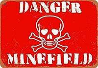 Danger Minefield 金属板ブリキ看板警告サイン注意サイン表示パネル情報サイン金属安全サイン