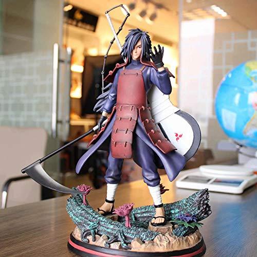 SFRIDQ Naruto Anime Uchiha Spot Reemplazable Cabeza Versión Estatua Estatuilla Modelo Muñeca Escultura Juguete Decoración Decoración Altura 32cm