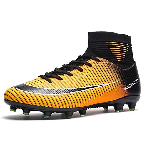 snfgoij Botas de fútbol para Hombre Tamaño 6 Zapatos de Entrenamiento de fútbol Botas de fútbol para niños Tacos Profesión Atletismo Adolescente, Yellow 1-39(UK5.5)