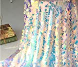 Jiaxingo - Mantel con lentejuelas iridiscentes para fiestas, decoración para bodas y Navidad