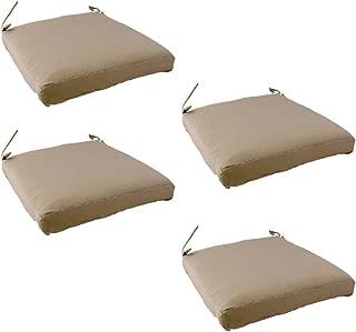 Edenjardi Pack 4 Cojines para sillas y sillones de jardín