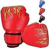 Ducomi - Guantes de Boxeo para Niños con Muñequera Ajustable, Protección de Nudillos Durante el Combate, Agarre, Puñetazos, Adecuados para Niños de 3 a 12 Años, MMA, Muay Thai, Kick Boxing 8 oz (Rojo)