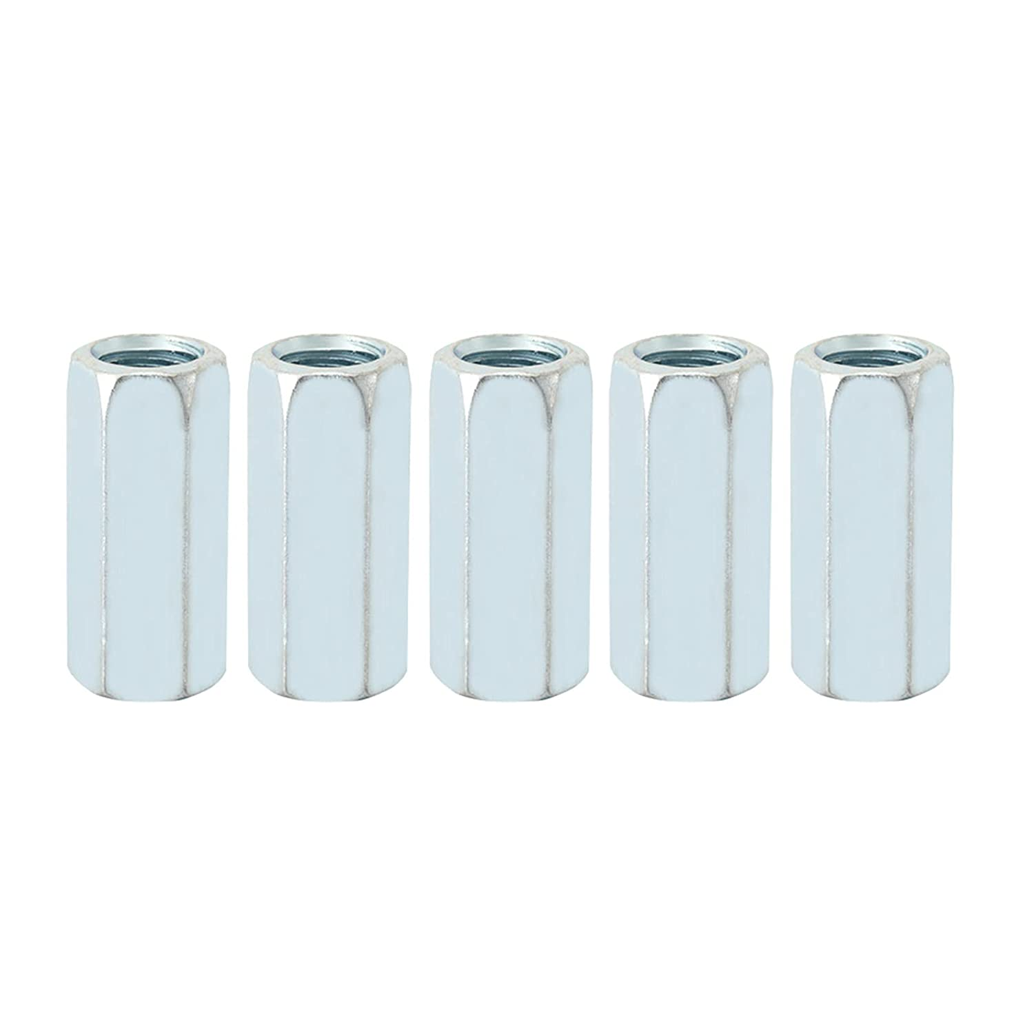 5pcs Las Vegas Mall Long Rod Ranking TOP12 Coupling Hex Nut Zinc Plated Threaded Connector Fa