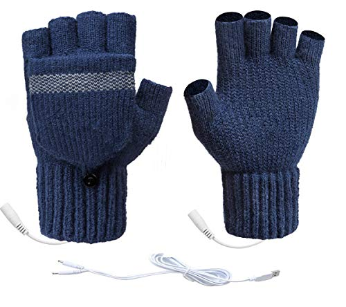 UNI USB 온수 장갑 겨울 따뜻한 장갑 장갑 이동식 양면 난방 장갑
