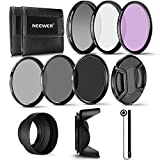 Neewer 55 mm Professional UV CPL FLD filtro e filtro neutro ND (ND2, ND4, ND8) Kit accessori per Sony A37 A55 A57 A65 A77 A100