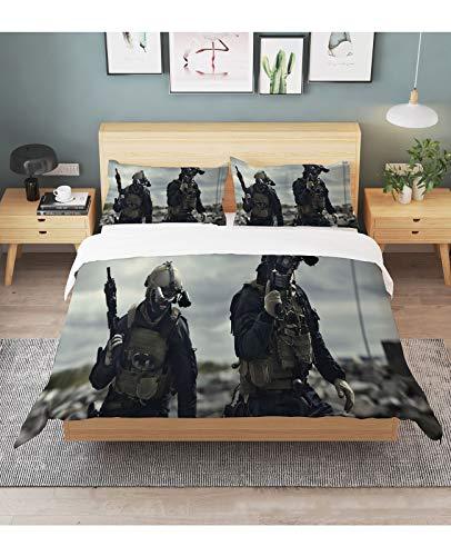 klj Bettwäsche-Sets Brave Warrior Bettbezug Set-3D Kinder Cartoon Bettbezug Set Für Teenager Mikrofaser Tröster Bezug Set 2/3 Pcs Full Size Marvel Bettwäsche Set Kissenbezug