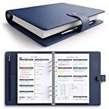 [MSRP $50 - Sale] LUX PRO Productivity Planner – Best A5 Undated Diary/Organizer for 2020/2021 - Daily Schedule & Reflection Journal - Manage Time/Projects/Finances - Goals & Gratitude (Navy Blue)