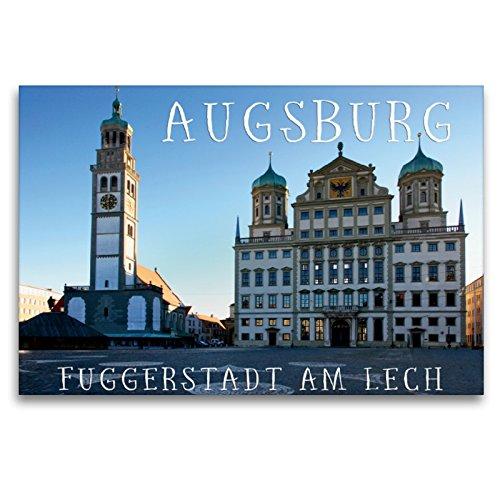 CALVENDO Premium Textil-Leinwand 120 x 80 cm Quer-Format Augsburger Rathaus, Leinwanddruck von Martina Cross