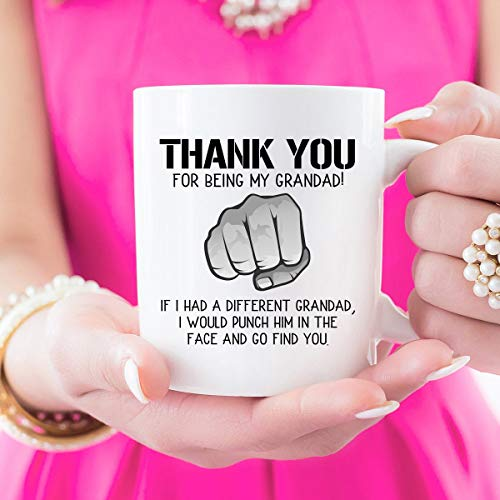 Divertida taza de café para abuelo, abuelo, abuelo, regalo de Navidad para abuelo, regalo para el día del padre, tazas para papá