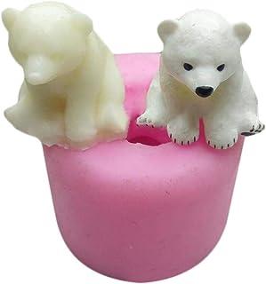 L Molde de Silicona de Oso Polar 3D - Molde de jabón de Silicona