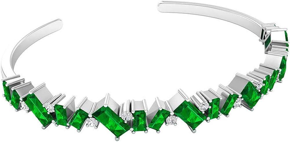 3.56 Ct Lab Created Austin Mall Emerald Certifie SGL 0.30 Charm Bracelet Miami Mall
