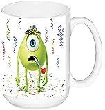 Monstruos S.A. Monsters Inc Mike Wazowski Taza Grande Ceramica 15 oz ≈ 443 ml