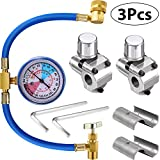 3 Pieces BPV31 Bullet Piercing Tap Valve Kits U-Charging Hose Refrigerant Can Tap with Gauge R134a Can to R12/R22 Port AC 1/2 Replace for AP4502525 BPV31D GPV14 GPV31 GPV38 GPV56 MPV31