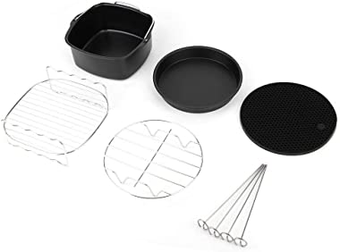 5 piezas de aluminio + acero inoxidable olla Pan Steam Rack freidora Kit de accesorios de piezas Set Fit para P-hilips Air Fr