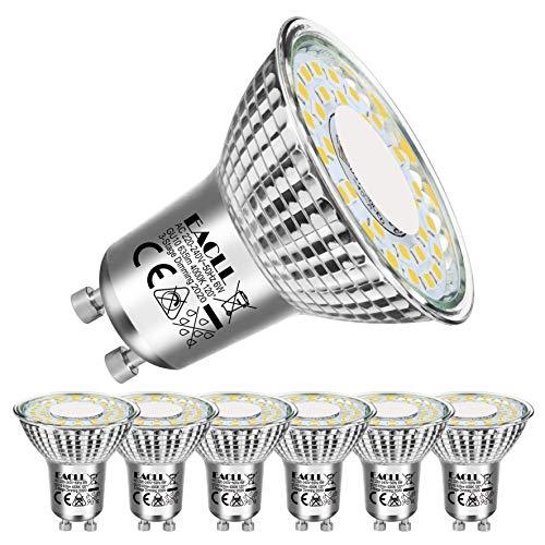EACLL Bombilla LED regulable GU10, 4000 K, luz blanca neutra, 6 W, 635 lúmenes, Par16, 3 en 1, atenuación de 3 niveles con interruptor normal, regulable sin regulador