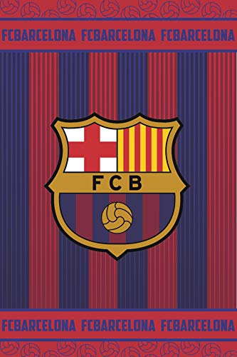 FC Barcelona Manta Polar FCB162, 100 x150 cm, Azulgrana