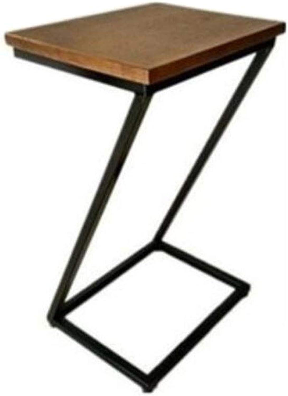 QULONG Sofa Tisch TV Tablett Laptop Schreibtisch Seite Snack Beistelltisch für Kaffeebett Sofa Essen Schreiben Lesen Wohnzimmer, Kiefer Holz Pflegetisch,40x32x70cm