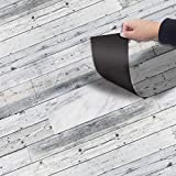 Self-Adhesive Vinyl Flooring Tiles Waterproof Peel and Stick Tiles Wall Stickers for Home Decor,Gray Wood Grain 118 X 7.87 Inch