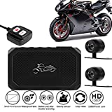 LFJNET Motorcycle View Dash Cam Motorcycle Camera HD 1080P+720P Front+Rear View DashCam DVR Driving Recorder