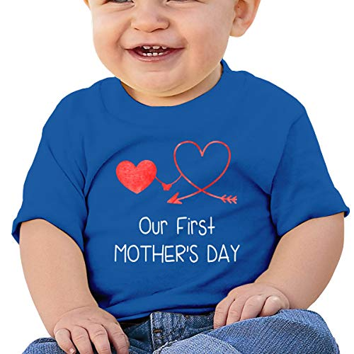 Cml519 Our First Mother_s Day Baby T-Shirt,Baby T Shirts 6-24 Months