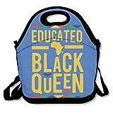 Africano educado negro reina almuerzo bolsa bolsa bolsa bolsa almuerzo almuerzo para trabajo escolar al aire libre