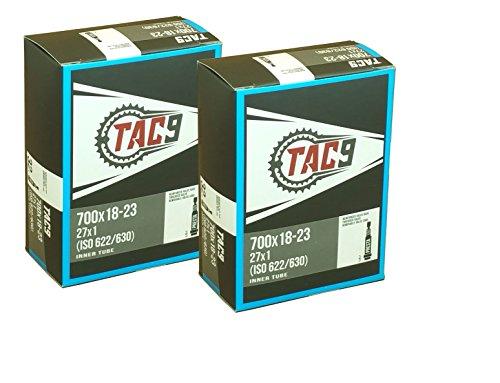 2 Pack - Tubes, 700c x 18-23 PV 32mm Presta Valve, Bicycle Inner Tube (2 Tube Bundle)