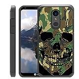 Untouchble Compatible with LG Stylo 4, LG Q Stylus (2018) Case [Shock Bumper Case] Multi Layer Slim Fit Smooth Finish Case - Jungle Camo Skull