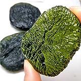 ZZLLFF Cristal de moldavita Verde Raro Natural de la colección de Piedras Preciosas de la Piedra de la energía del meteorito checo (Size : 100 120g)