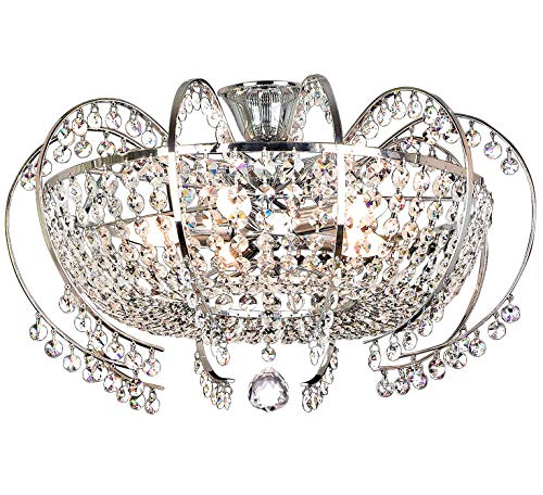 Cristallo lampadario plafoniera lampada soffitto soggiorno illuminazione classico design XL 58cm 10 braccio 5xE14 zoccolo
