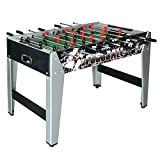 Hathaway Avalanche Foosball Table Soccer Game with Ergonomic Handles for Kids and Adults, 48-in Black/Gray