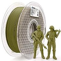 【Neuester Matte PLA Typ】 Matte PLA Filament haben eine matte Textur ohne glänzendes plastisches Erscheinungsbild. Armee grün 3D Drucker Filament ist so einzigartig und modisch. 【Matte PLA Rohstoff】 100% mit natürlichen Rohstoffen. Die Rohstoffe des A...