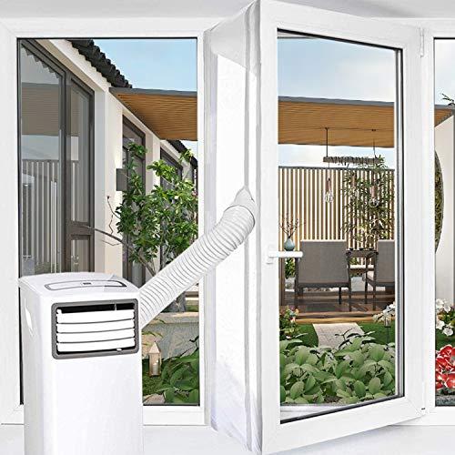Fensterabdichtung für mobile Klimageräte Klimaanlagen | Hot Air Stop zum Anbringen an Universal Fenster (Fenster 300 cm Neu)