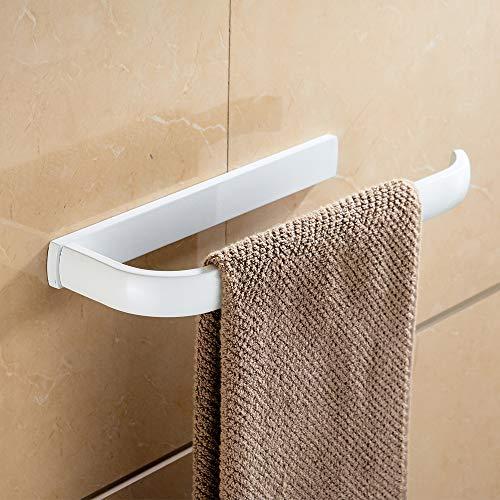 CASEWIND Neuartig Handtuchhalter Weiß Handtuchring kurz Handtuchstange für Kleinen Raum Messing Konstruktion Weiß Finished Stil zum Bohren