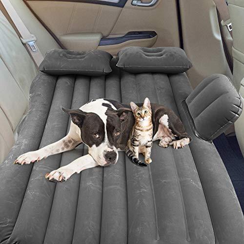 Ejoyous Cama inflable para coche, colchón hinchable de viaje, asiento trasero con bomba eléctrica, almohada hinchable, hasta 150 kg