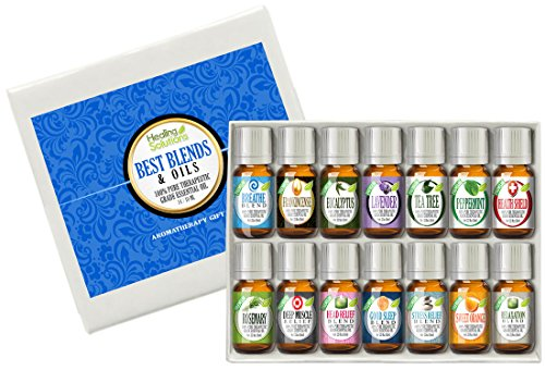 Best Blends amp Oils Set of 14100% Pure Best Therapeutic Grade Essential Oil  14/10mL