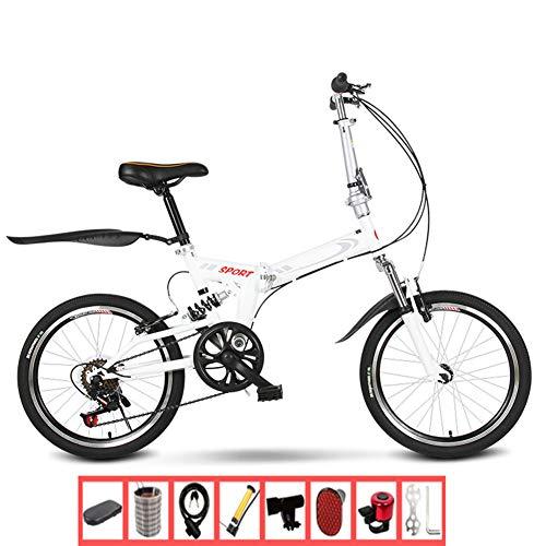 Thole Bicicleta Plegable Absorbente Velocidad Variable para Adultos 20 Pulgadas para Estudiantes Y Mujeres Ultraligeros