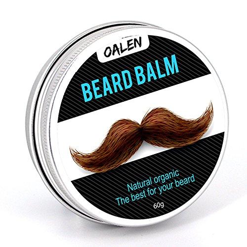 Men's Beard Grooming Kit, Beard Brush, WONTECHMI Beard Comb, Mustache and Beard Balm Butter Wax, Barber Scissors for Styling, Shaping and Growth, The Best Gift (white)