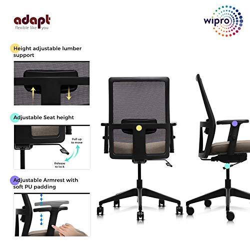 Wipro Medium Back Executive Ergonomic Office Chair
