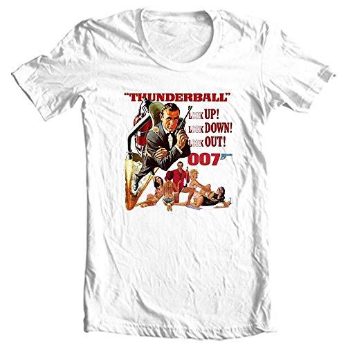 VeTo Thunderball t-Shirt 007 Sean Connery James Bond Movie Graphic Tee