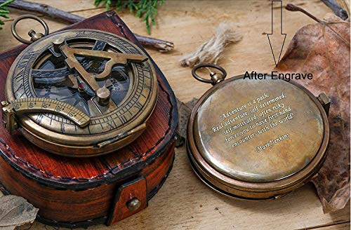 Engraved Compass for Him