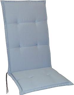 Tuinstoelkussens, stoelkussens, zitkussens, hoge rugleuning, 5 kleuren (zilver)