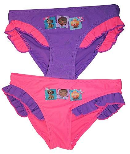 Doc McStuffin Mädchen Bade-Slips 2er Set lila/pink für Kinder Verschiedene Größen (116)